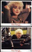 WHO'S THAT GIRL - SET OF 8 CINEMA PROMO LOBBY CARDS